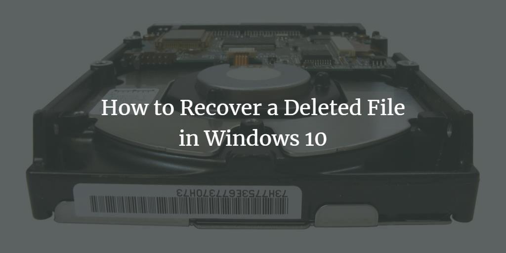 Windows 10 File Undelete