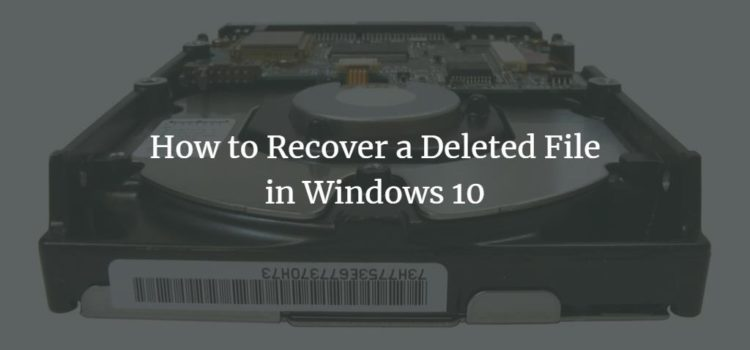 How to Recover a Deleted File in Windows 10