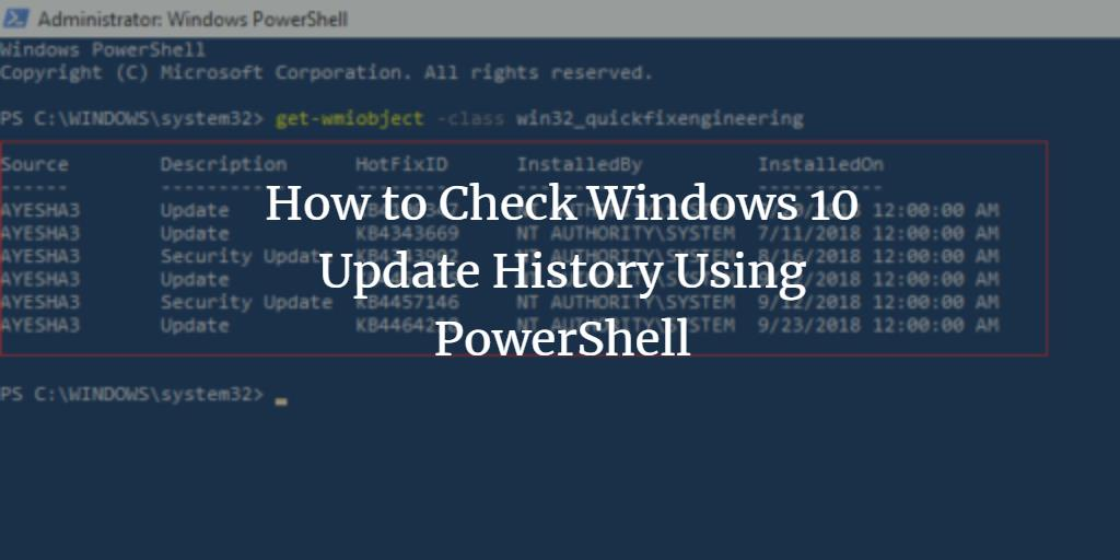 Windows PowerShell Update history