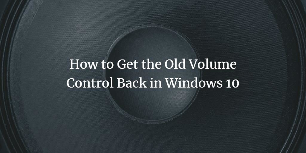 Windows Volume Control