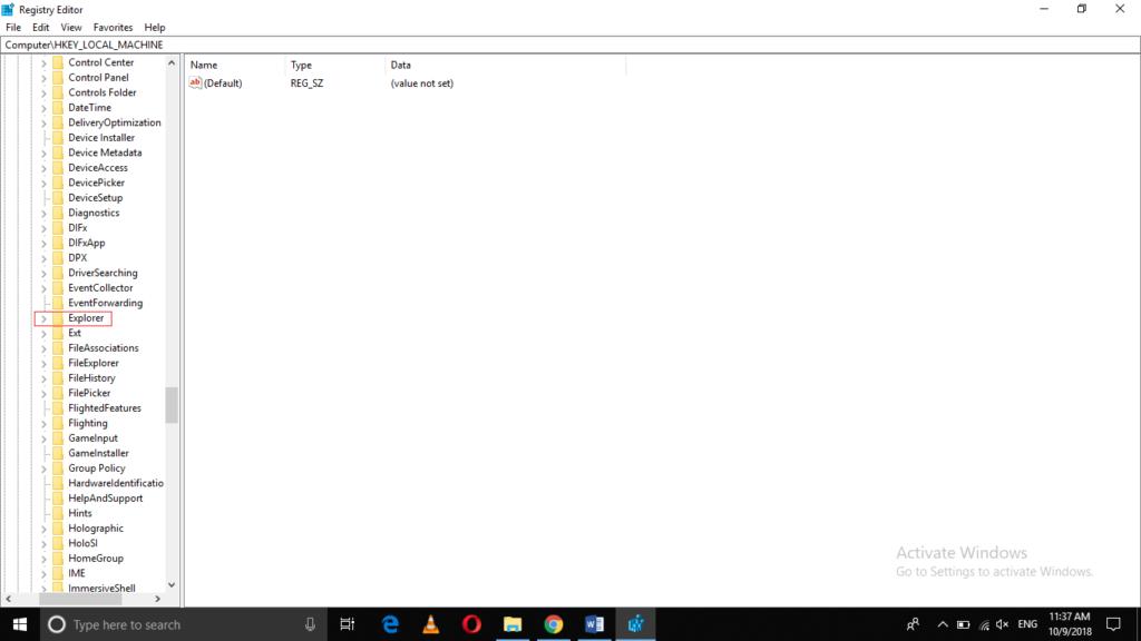 Open the Explorer folder