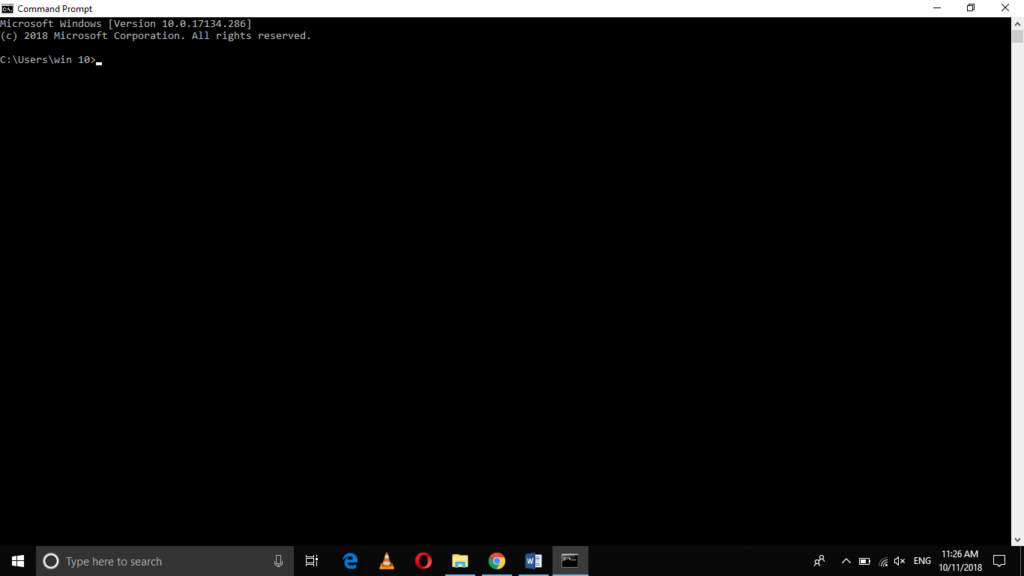 Open Windows command line