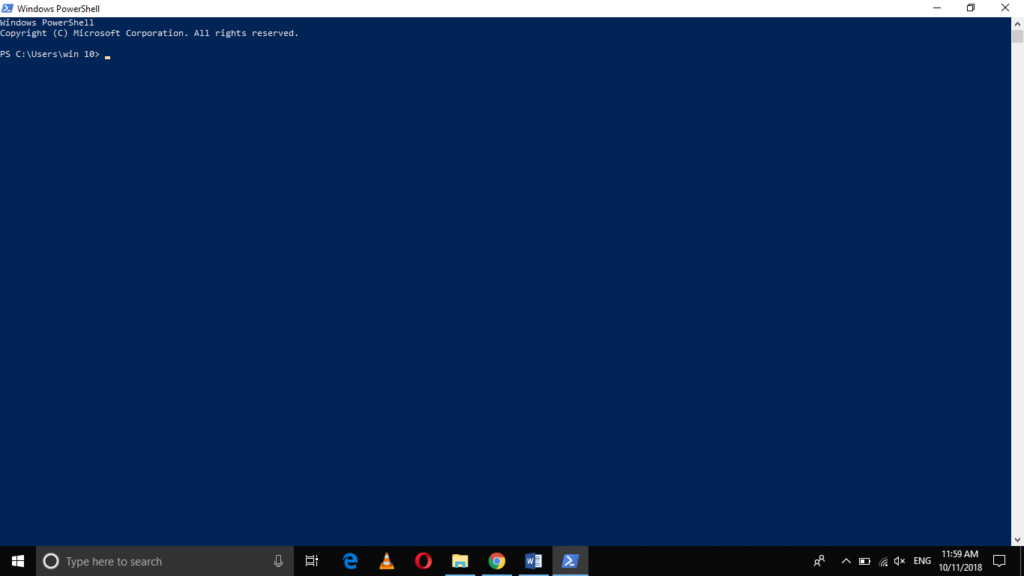 PowerShell window