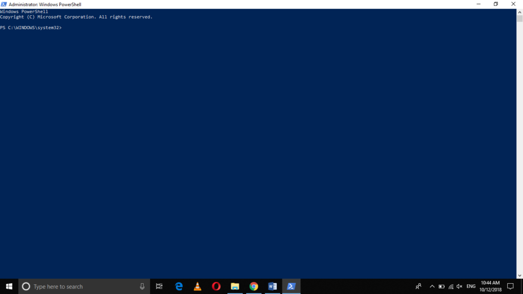 PowerShell launched with admin privileges