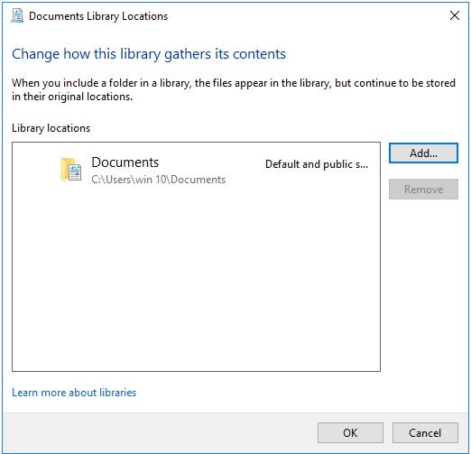 Folders in Library