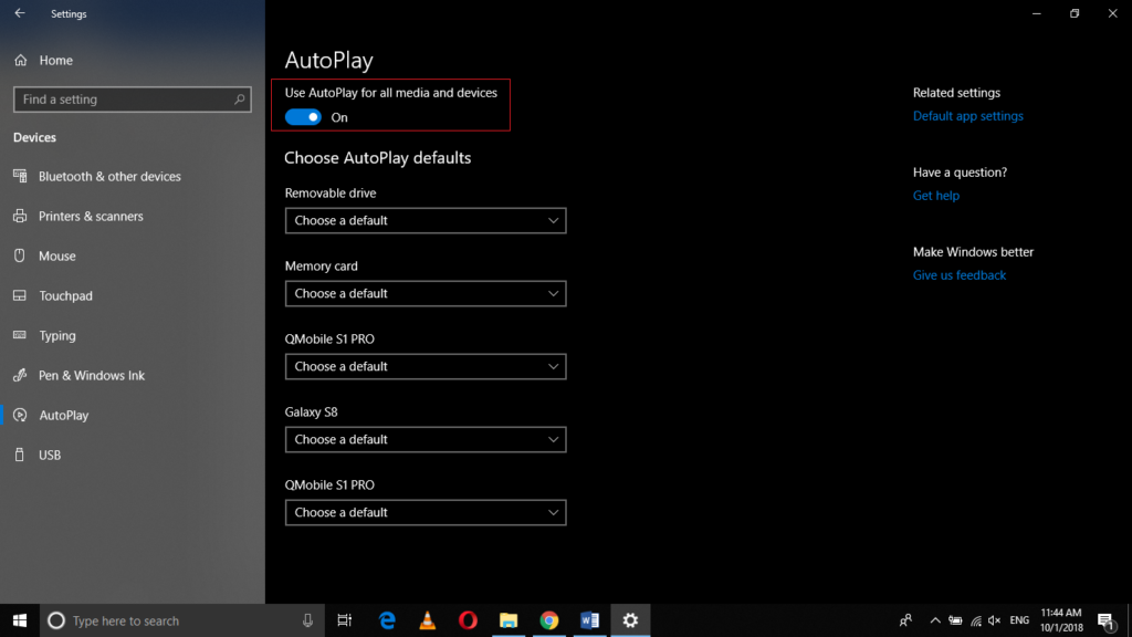 AutoPlay tab