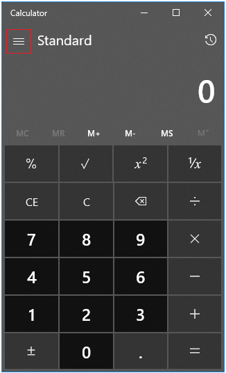 Start Windows calc