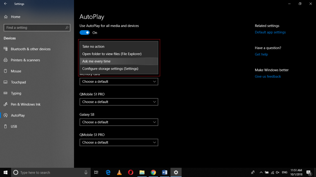 customize the AutoPlay action