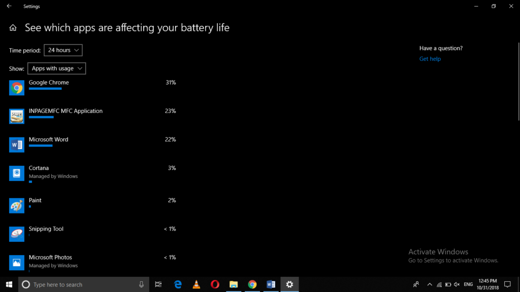 See which apps affect your battery life