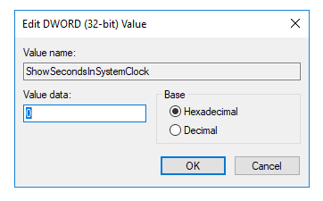 Edit DWORD (32-bit) Value