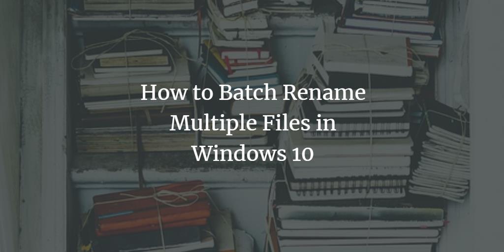 Batch file rename