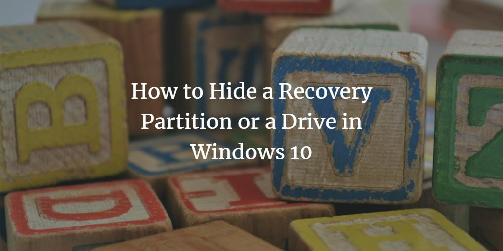 Hide Windows Recovery Partition