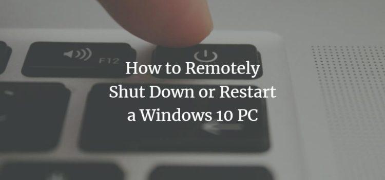 Windows Remote Shutdown