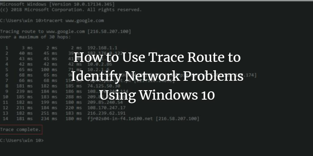 Windows Traceroute