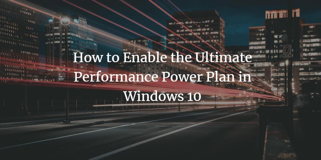 Windows Ultimate Performance