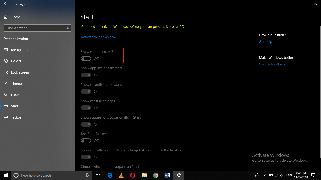 , How to Add another Column to the Start Menu in Windows 10