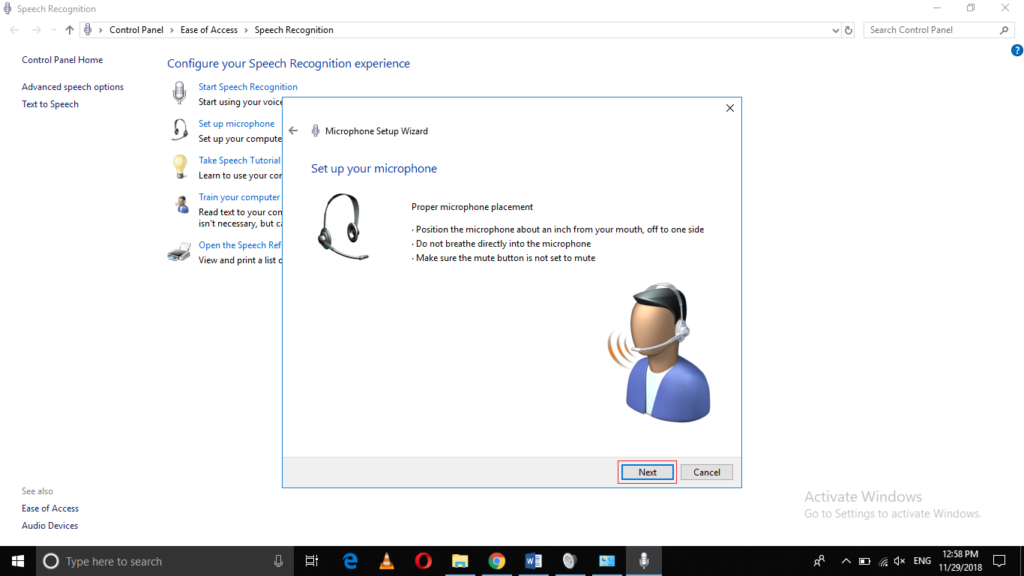 how to setup and test a microphone on your windows 10 pc