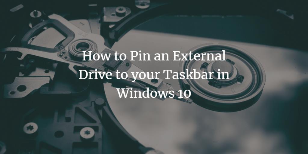 Windows Drive Icon in Taskbar