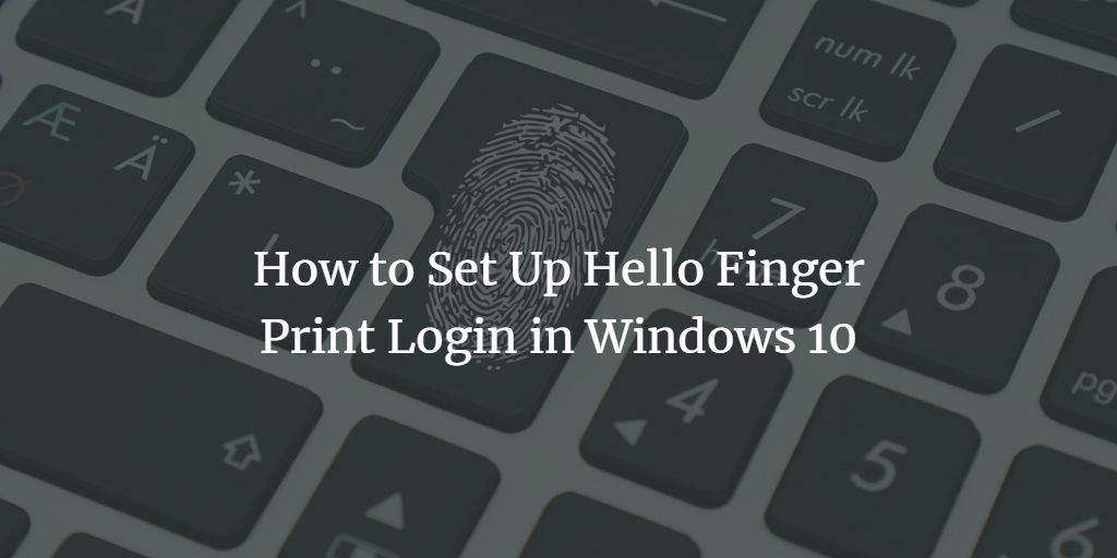 Windows Fingerprint Login