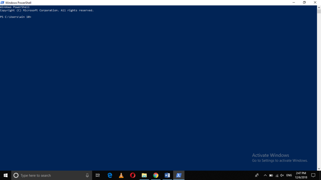 Open PowerShell Console