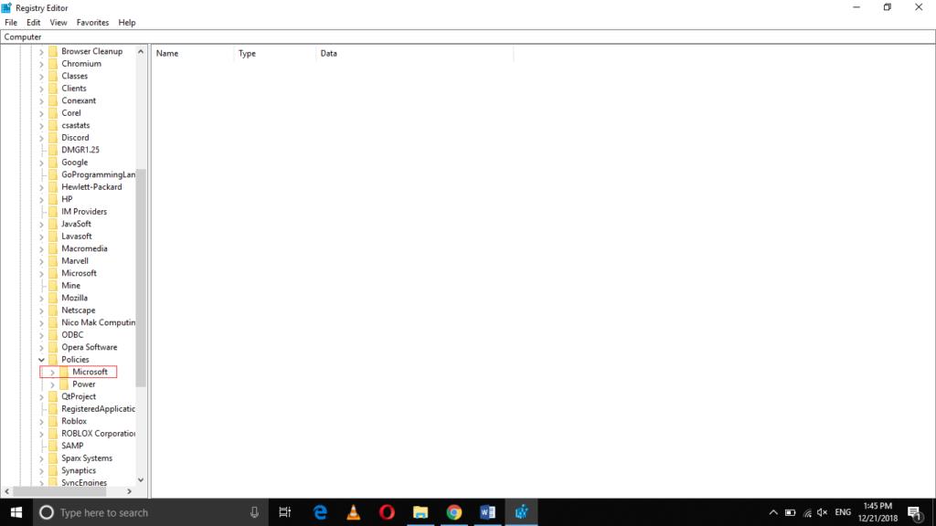 Microsoft sub folder