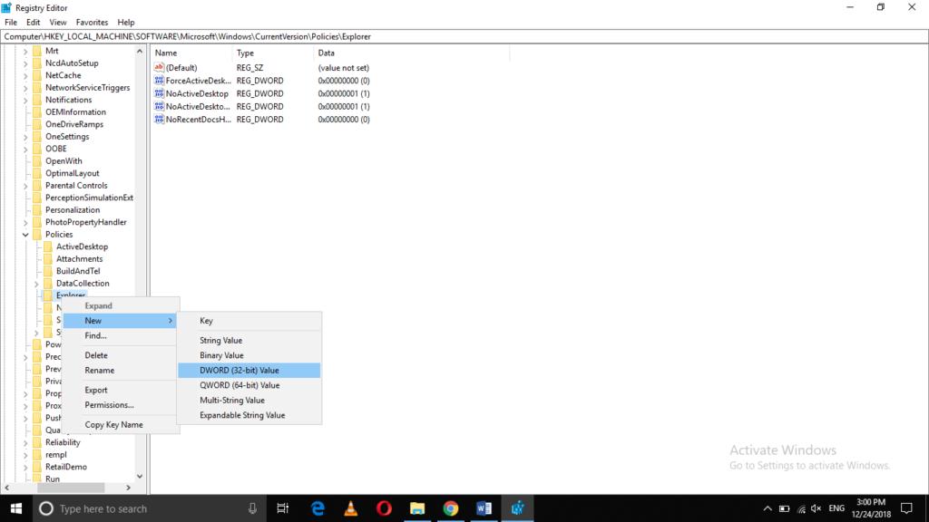 Open Explorer folder