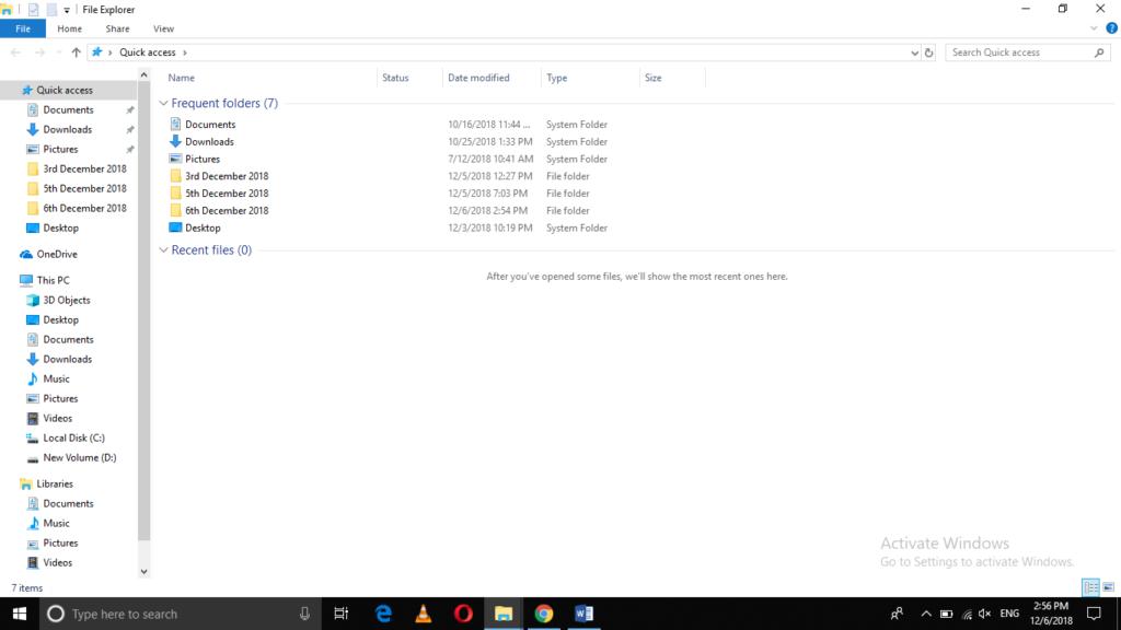 Open Windows File Explorer