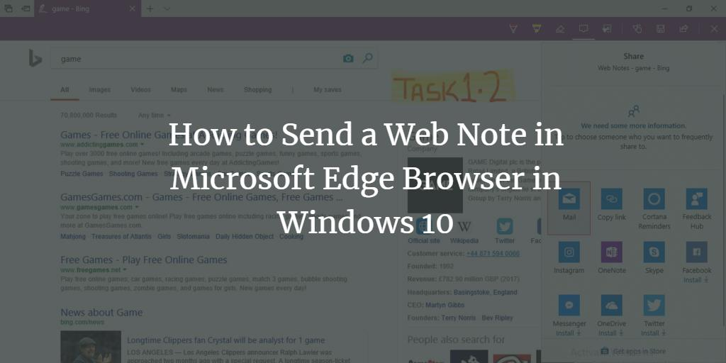 Edge Browser Web Notes