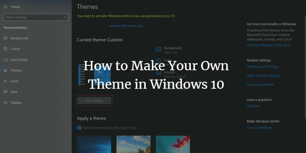 Make Custom Windows Theme