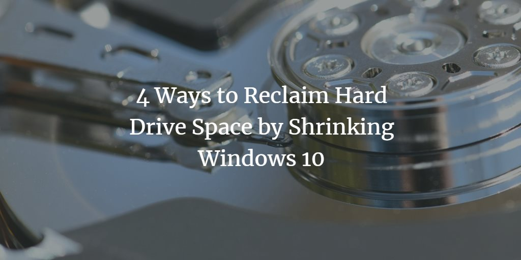 Shrink Windows 10