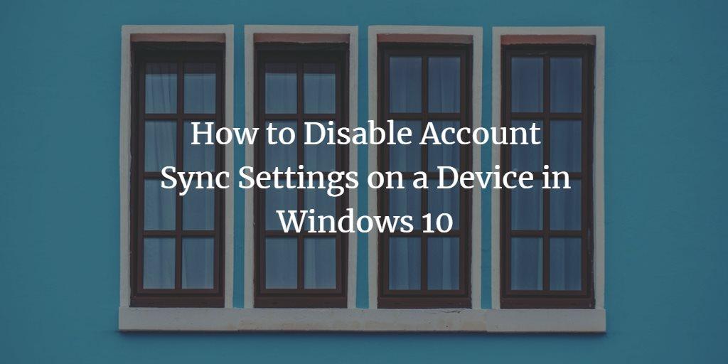 Windows Account Synchronisation