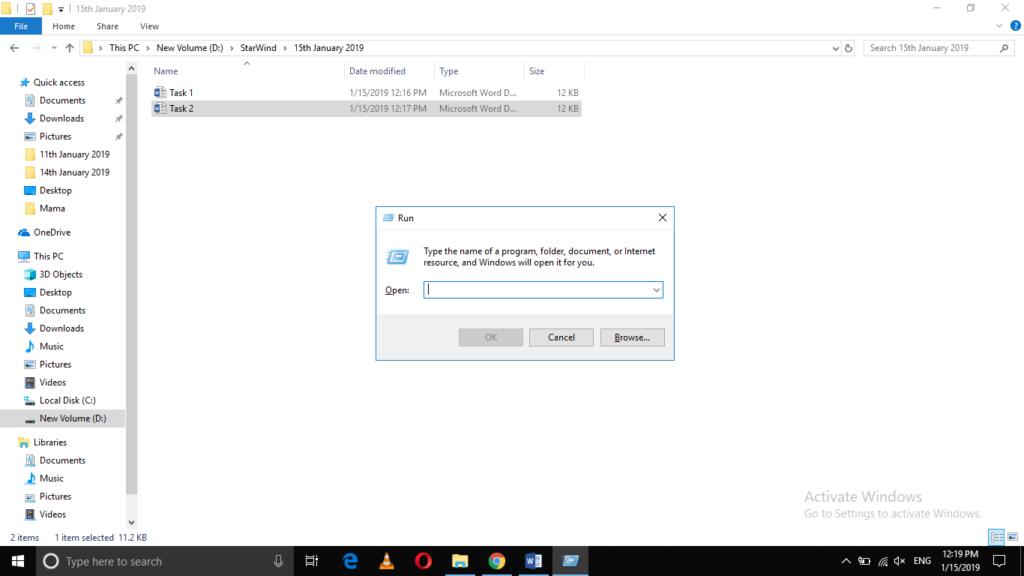 Open Run console in Windows