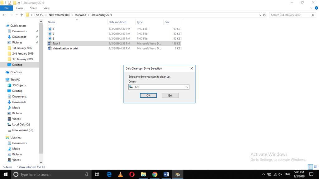 Run Windows Disk Cleanup