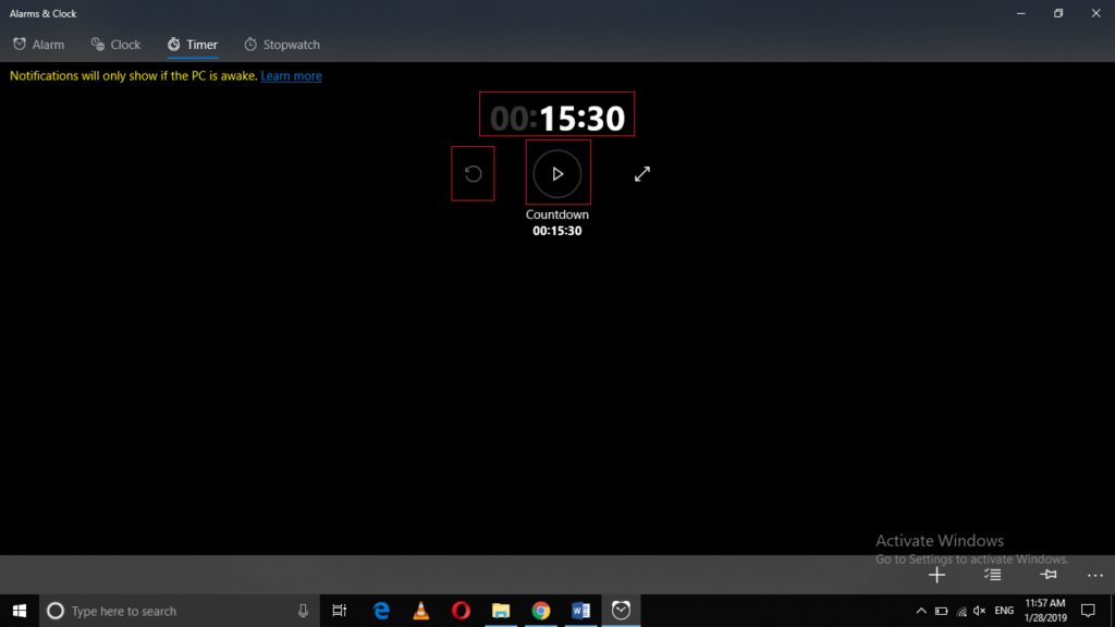 Windows 10 Timer