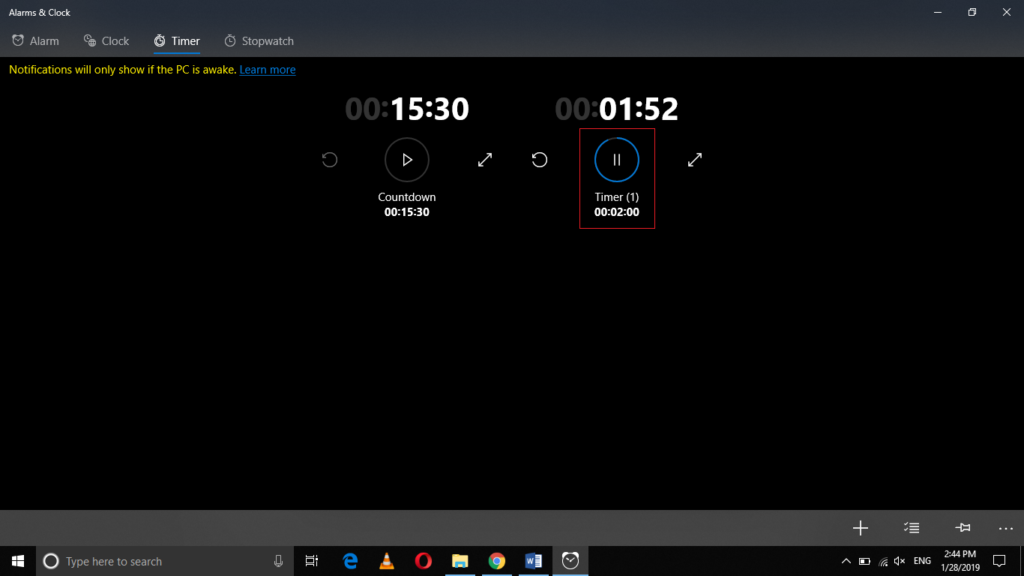 How to Set Alarms, Timers, and Stopwatches in Windows 10