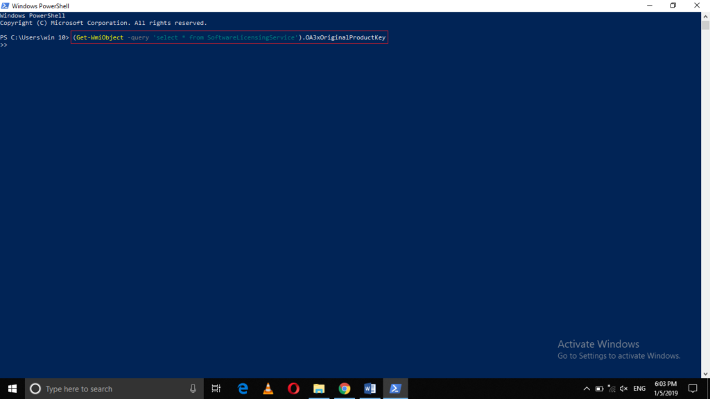 Execute PowerShell command
