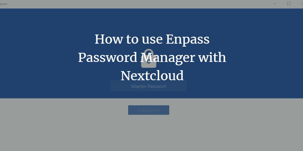 Enpass password manager with Nextcloud