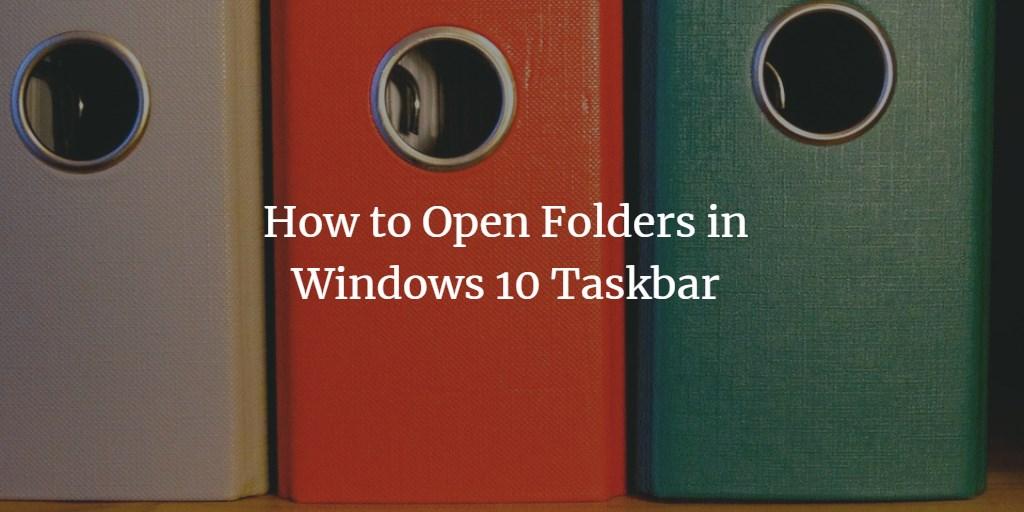 Add folder icon to Windows Taskbar