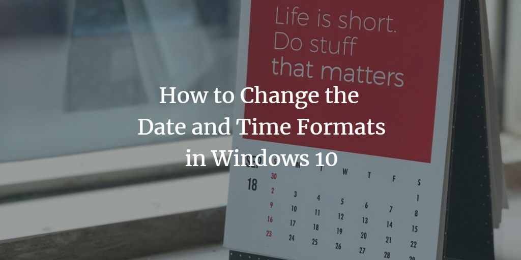 Windows Date Time Format