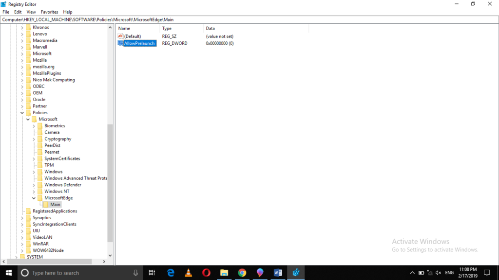 , How to Prevent Microsoft Edge from Preloading itself on Windows 10