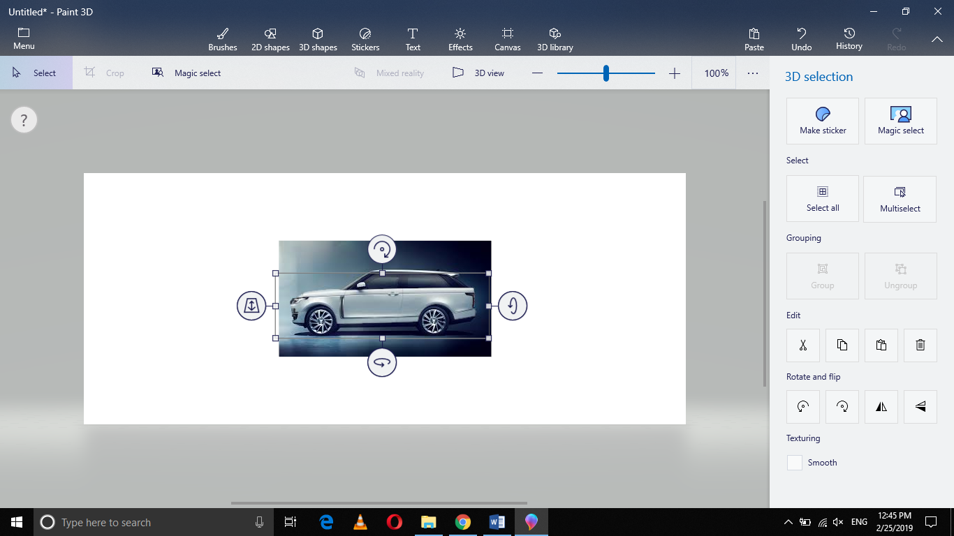 , How to Crop the Background out of an Image in Paint 3D in Windows 10