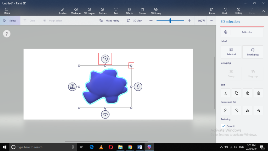 Modify 3D object