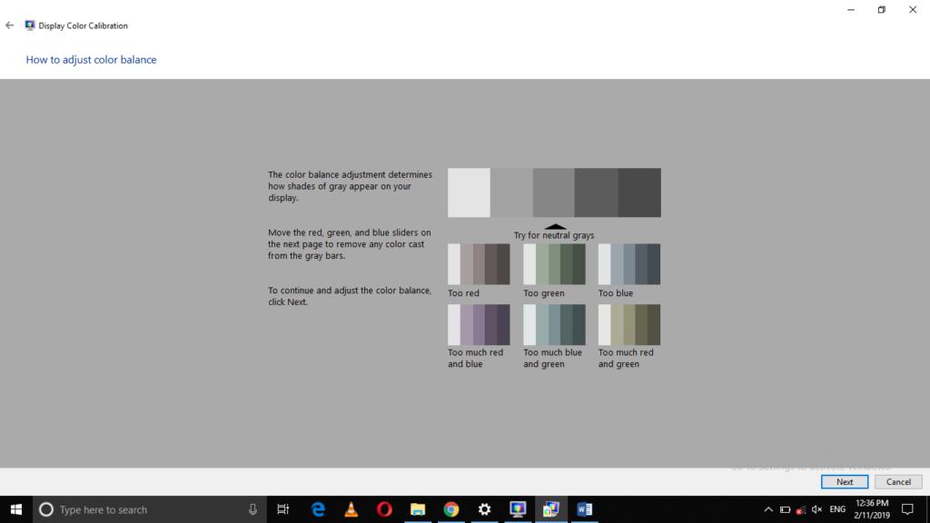 Adjust the Color Balance