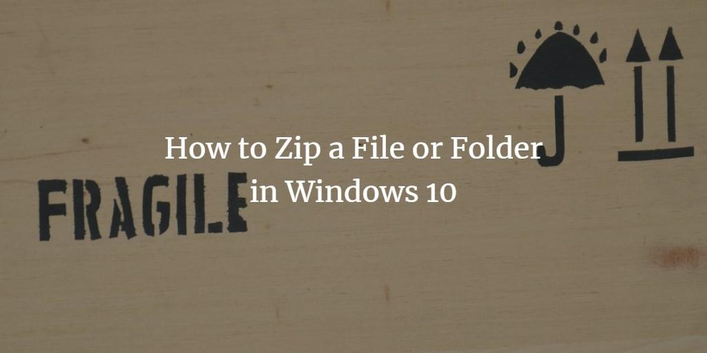 Zip file or Folder