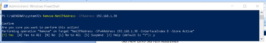 Remove IP address using PowerShell