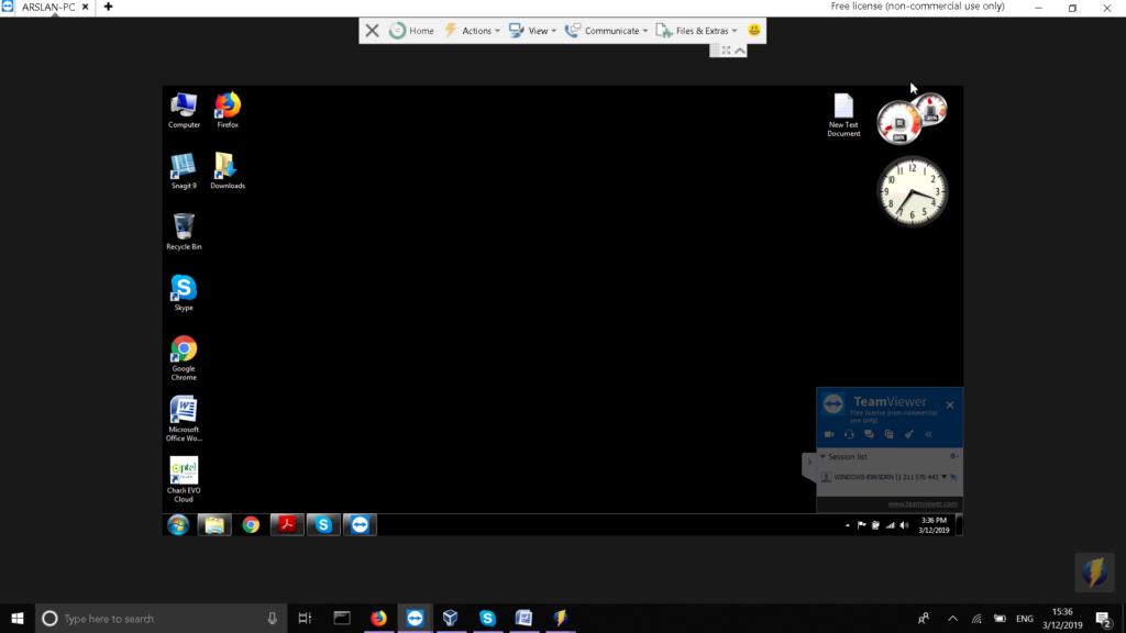 Remote Desktop in TeamViewer