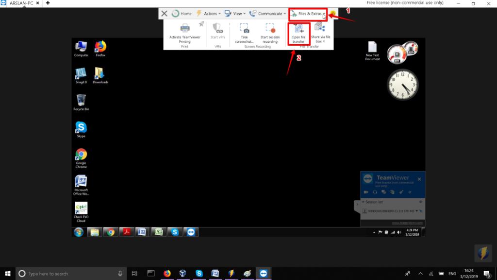 Open file transfer
