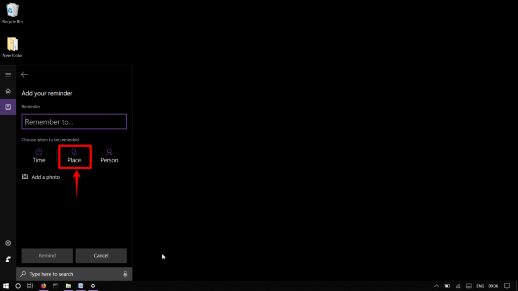 , How to set a reminder with Cortana