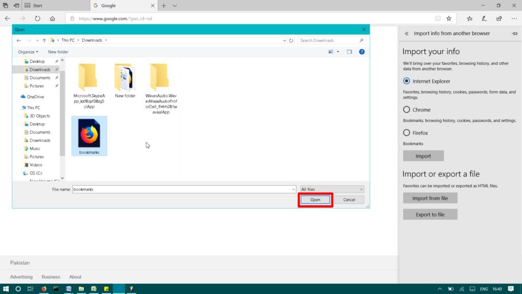 Open Import file
