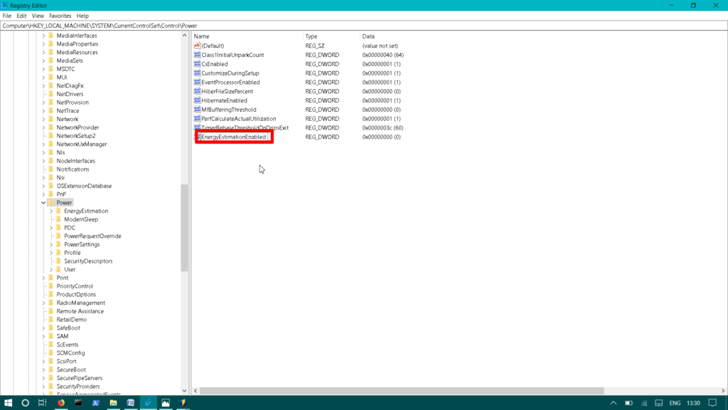 , How to Enable Remaining Battery Time in Windows 10